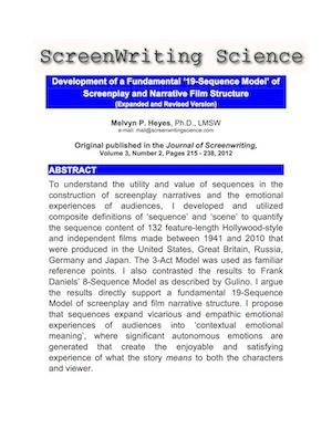 1 Heyes - Paper: Sequence-Scene Journal of Screenwriting